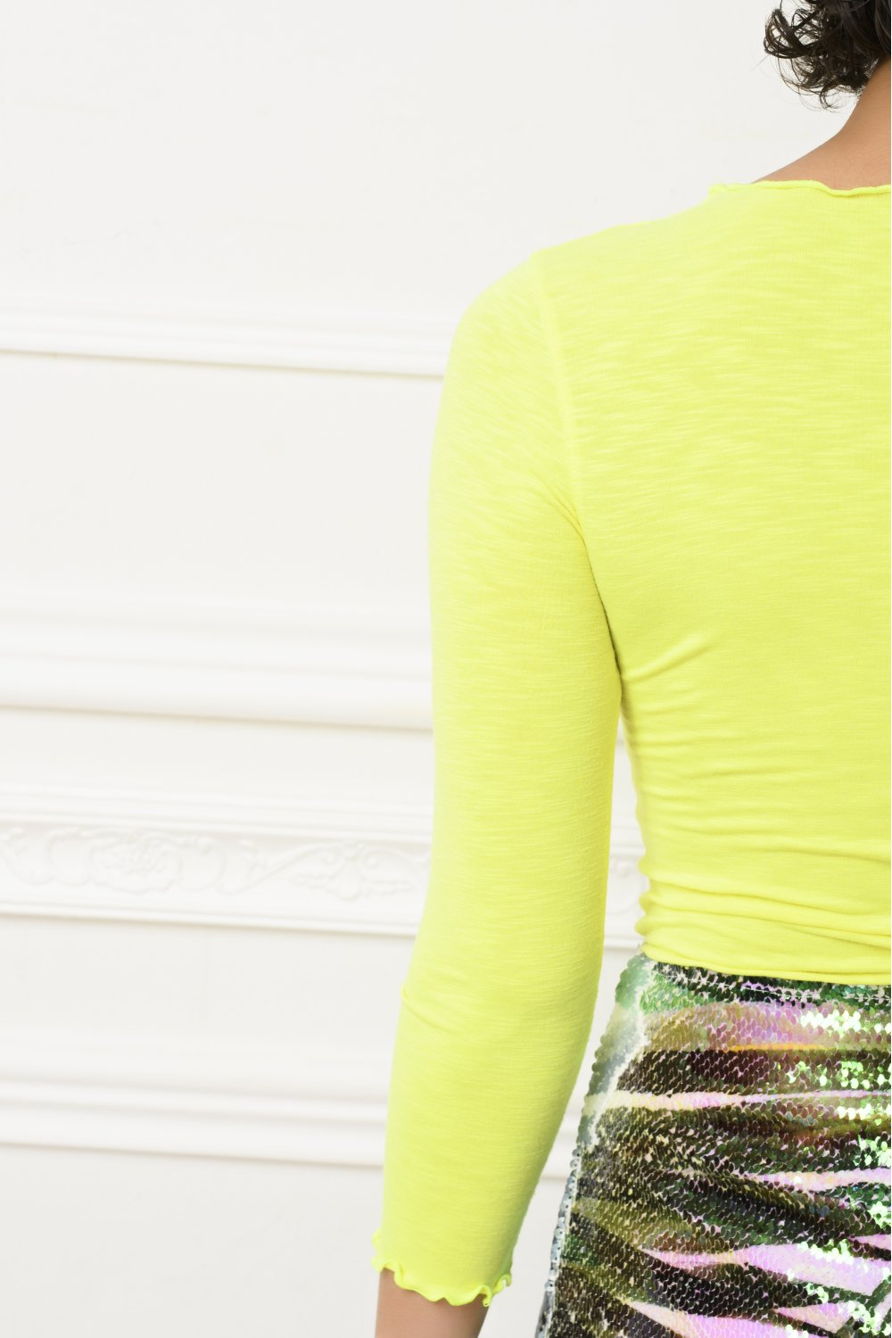 NEON BLOUSE WITH STRAS