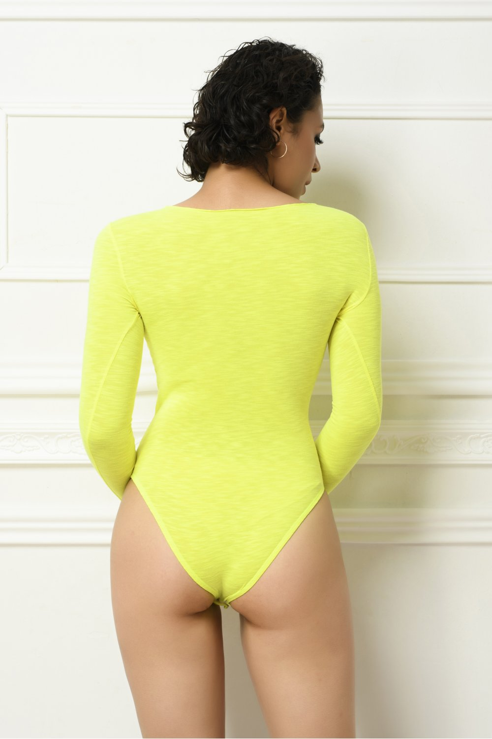 NEON BODYSUIT WITH STRAS