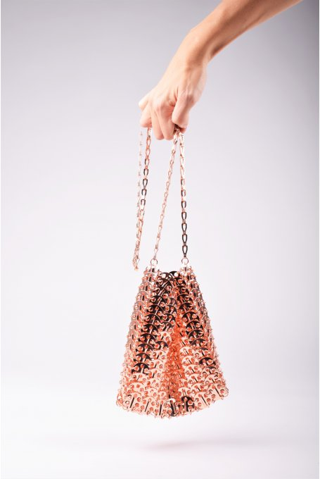 ROSE GOLD METALLIC BAG