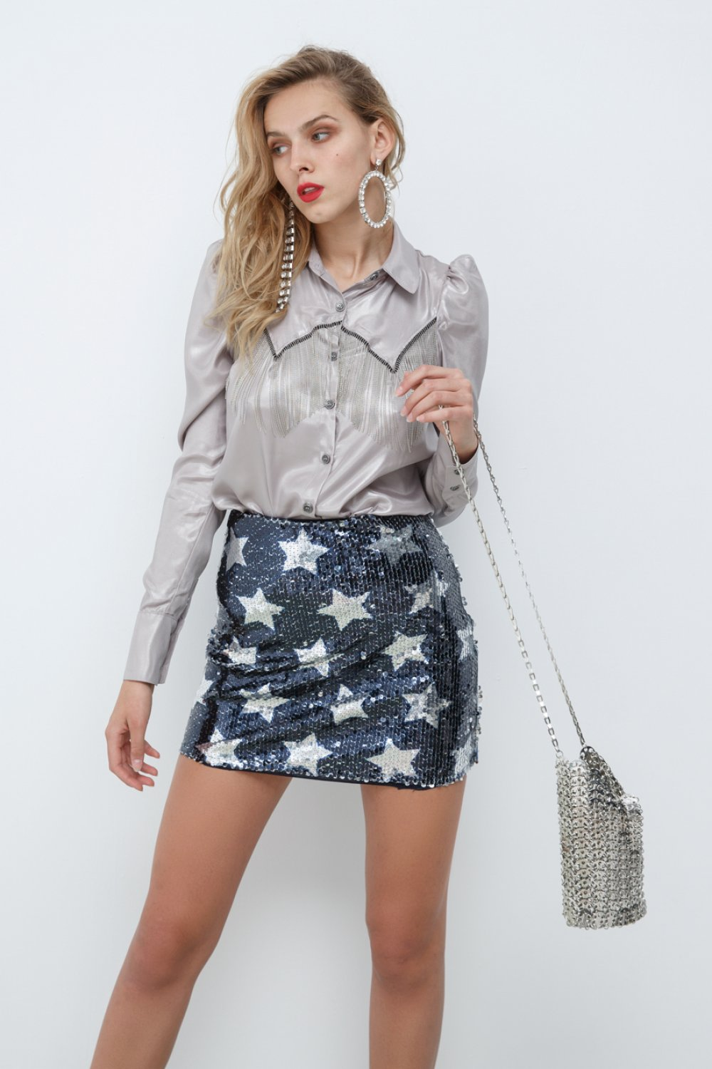 SILVER METALLIC BAG