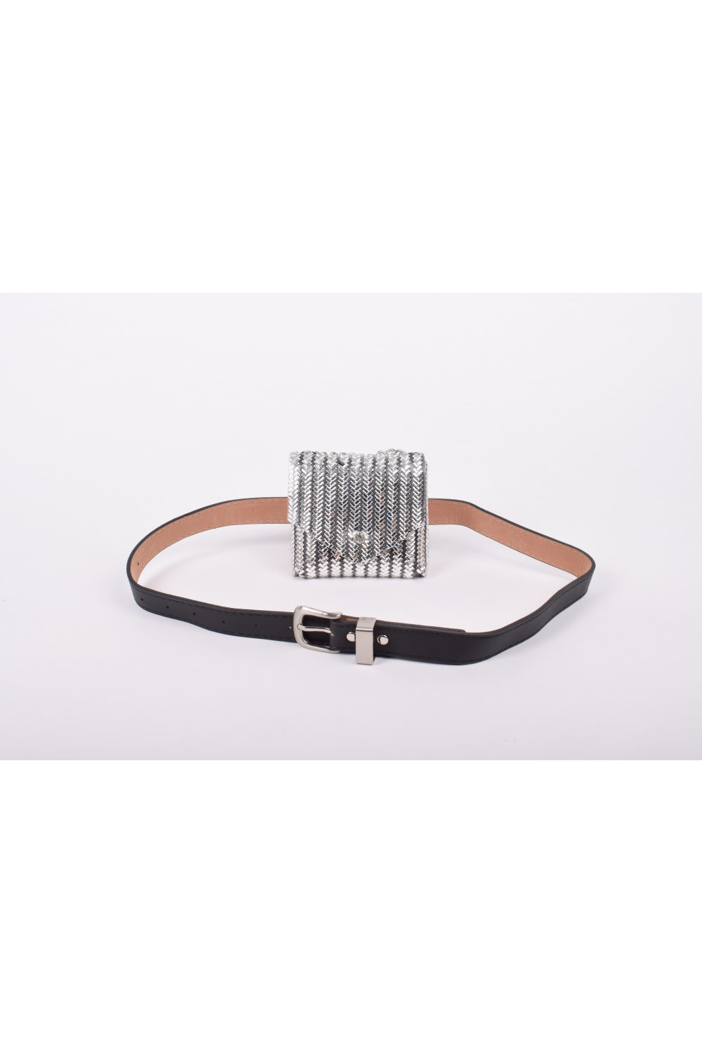BELT BAG WITH STRASS AND CHAIN