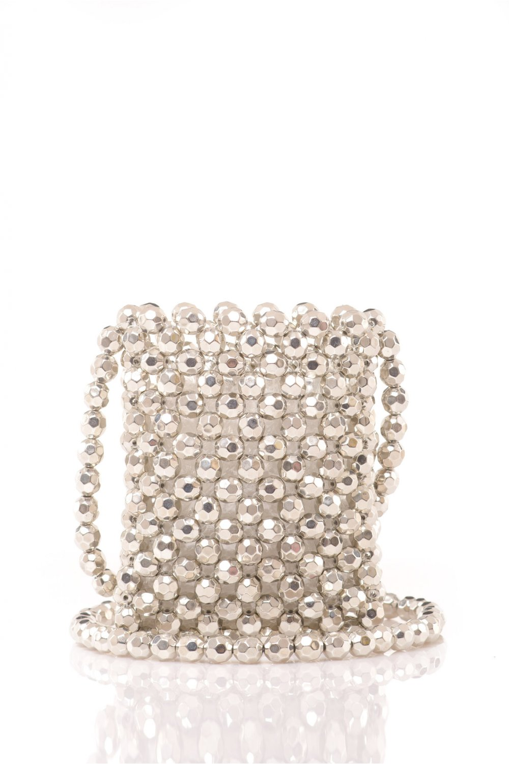 HANDMADE BAG WITH SILVER PEARLS