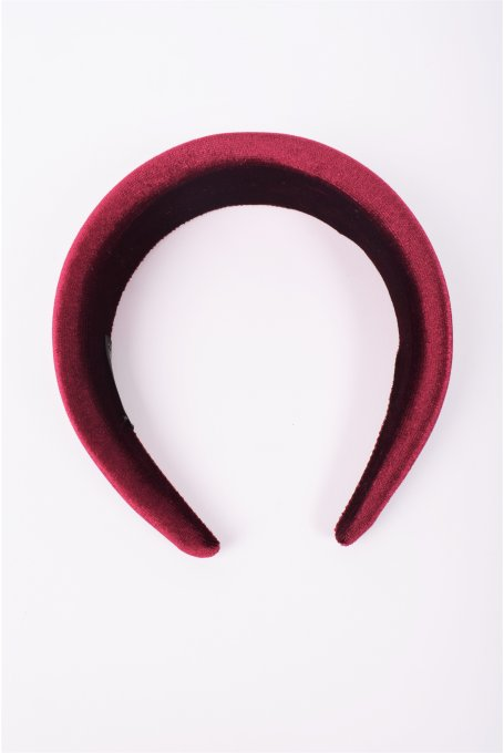 VELVET BORDEAUX HAIRBAND