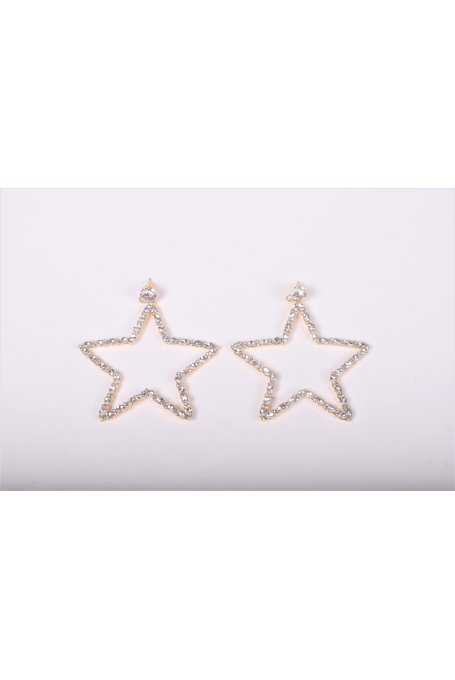 STAR EARRINGS WITH STRASS