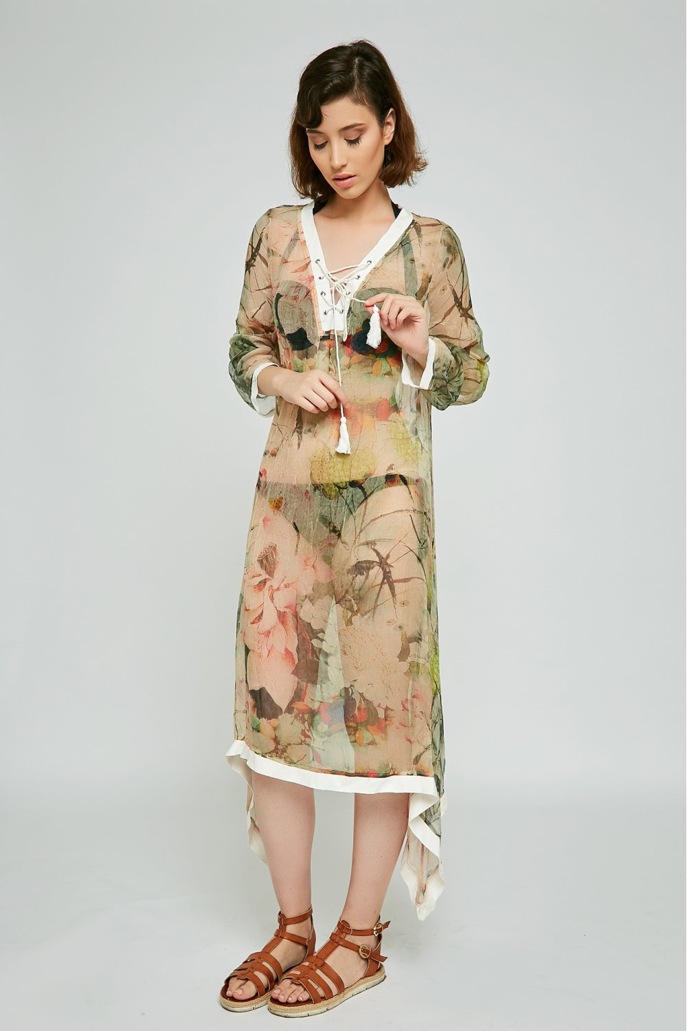 long printed tunic