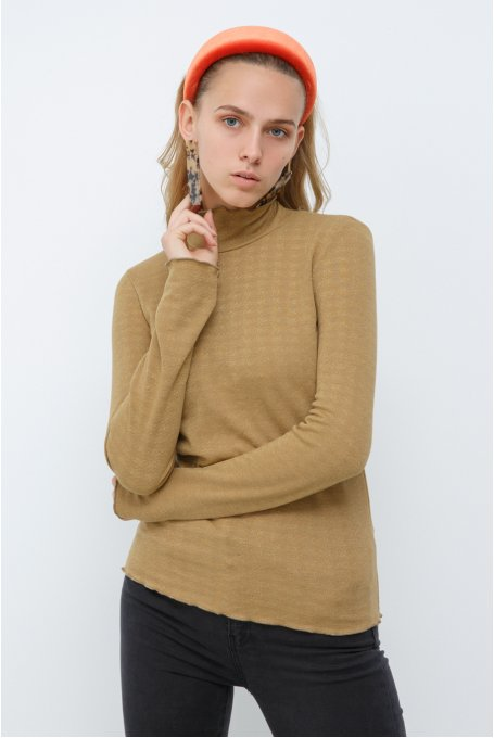 GOLD LUREX ROLLNECK